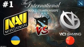 НАВИ против ТОП КИТАЯ! | Na`Vi vs Vici Gaming #1 (BO2) The International 2019