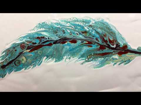 ( 651 ) Acrylic pouring feathers