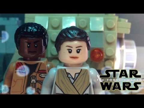 Lego Star Wars The Force Awakens trailer 3 recreation shot for shot