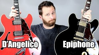 Semi-Hollow Shootout! - Epiphone and D'Angelico!