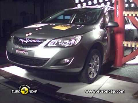 Crash Test New Opel Astra 2010 Euro NCAP
