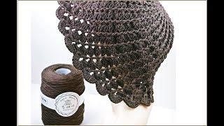 (코바늘 모자뜨기)crochet Tuple hat/성인…