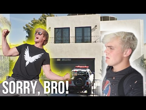 Thumbnail: WE BROKE INTO JAKE PAUL'S HOUSE! **Prank Wars**
