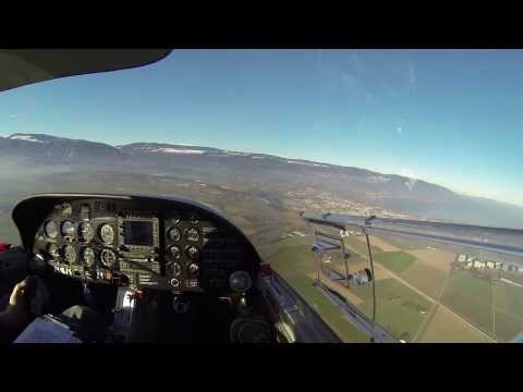 LSPG - LSGY VFR flight