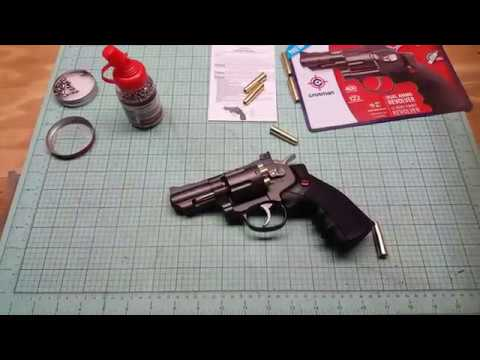 Crosman SNR 357 unboxing review shooting test