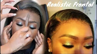 FLAWLESS LACE FRONTAL INSTALLATION W/ GREEN ASTERIA HAIR