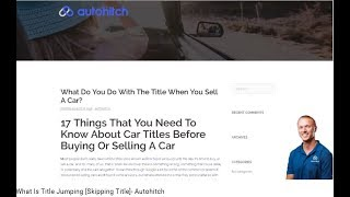 What Is Title Jumping [Skipping Title]- Autohitch