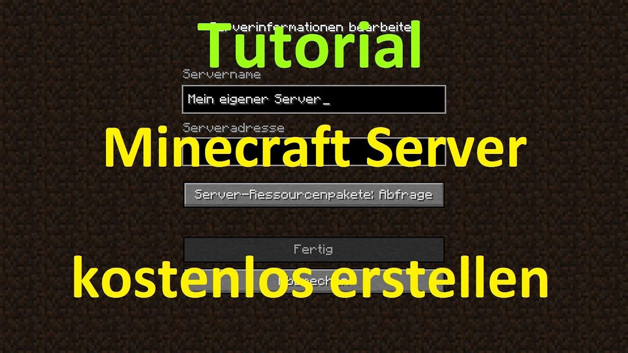 Eigenen Minecraft Server Erstellen Für Freunde Im LAN - Minecraft server erstellen fur freunde