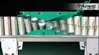 Hinged turner for installation on a conveyor belt
