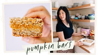 The Only Pumpkin Recipe you need this Thanksgiving - Pumpkin Pie Oat Bars