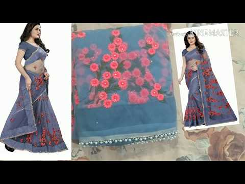 Buy Designer Net Sarees Online/amazon Net Saree Review/Bollywood Designer Net Party Wear Sarees