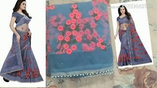 buy designer net sarees online/amazon net saree review/Bollywood Designer net party wear sarees
