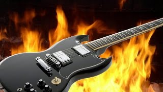 hard rock guitar backing track in bm