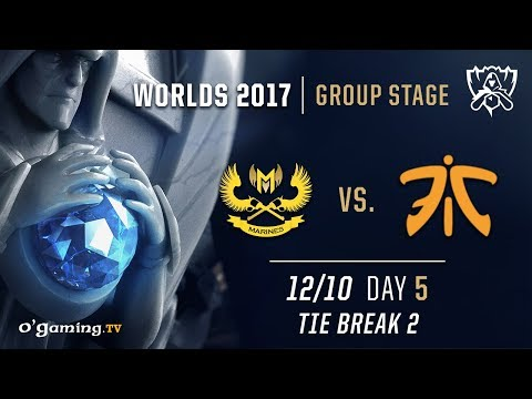 GIGABYTE Marines vs Fnatic - Worlds 2017 - Group Stage - Day 5 - Tie Break #2 - League of Legends