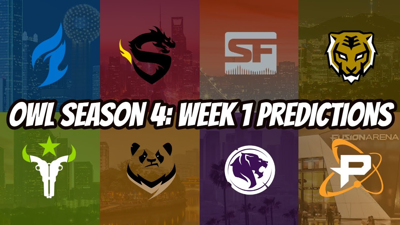 Overwatch League Season 4 Week 1 Predictions