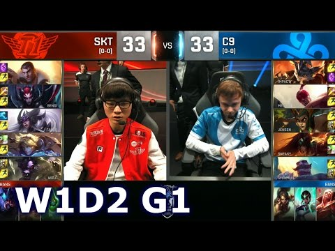 SKT vs C9 - Week 1 Day 2 | Group B LoL S6 World Championship 2016 W1D2 | SK telecom T1 vs Cloud 9