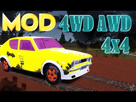 Полный привод МОД, 4х4, AWD, 4WD Mod  ставим и тестируем в My summer car