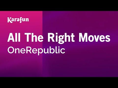 Karaoke All The Right Moves - OneRepublic *