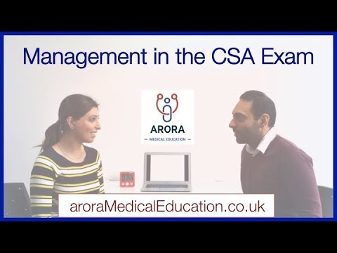 How to form a MANAGEMENT PLAN in the CSA Exam