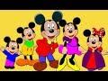 Donald Duck And Mickey Mouse Cartoon | The Finger Family Song | English Rhymes For Kids