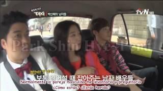 [Spanish Sub-HD] TAXI Ep.270 ~Park Shin Hye menciona a Jung Yong Hwa