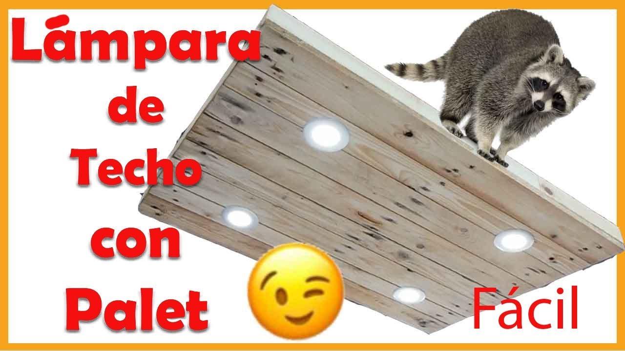 Como hacer una l mpara led de techo colgante de madera con - Como hacer lamparas de techo artesanales ...