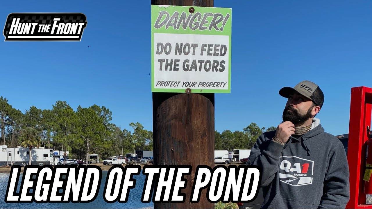 Florida Man Attempts to Swim GATOR POND after Volusia Speedway Park Rainout
