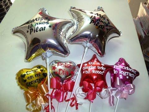 Como personalizar un globo metálico Frases en globos