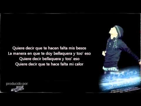 *Arcangel* - Antes Solias (Letra) *REGGAETON 2012*