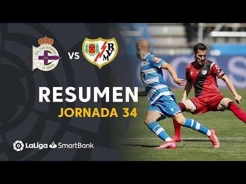 Resumen de RC Deportivo vs Rayo Vallecano (3-3)