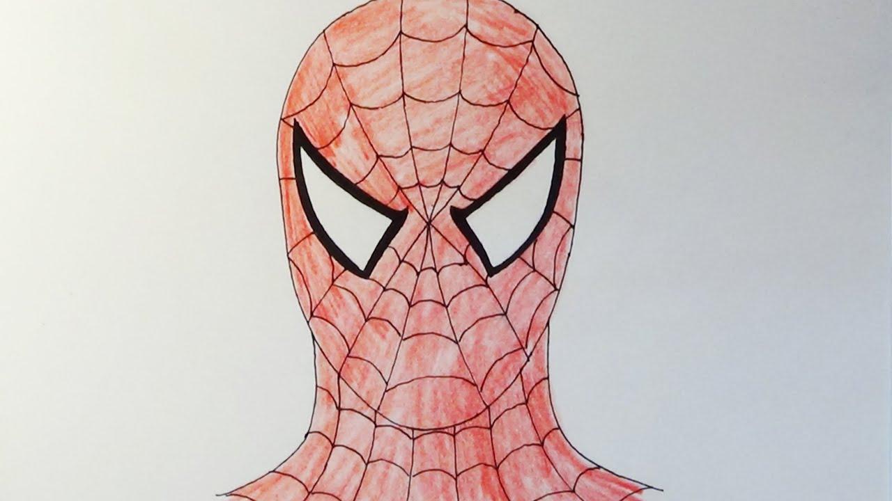 Как нарисовать маску человека-паука