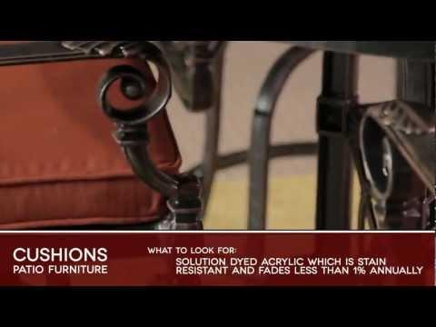 CUSHIONS Patio Furniture Buyers Guide Video