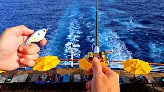 SNEAKING FISHING ROD On CRUISE SHIP (MISSION IMPOSSIBLE)
