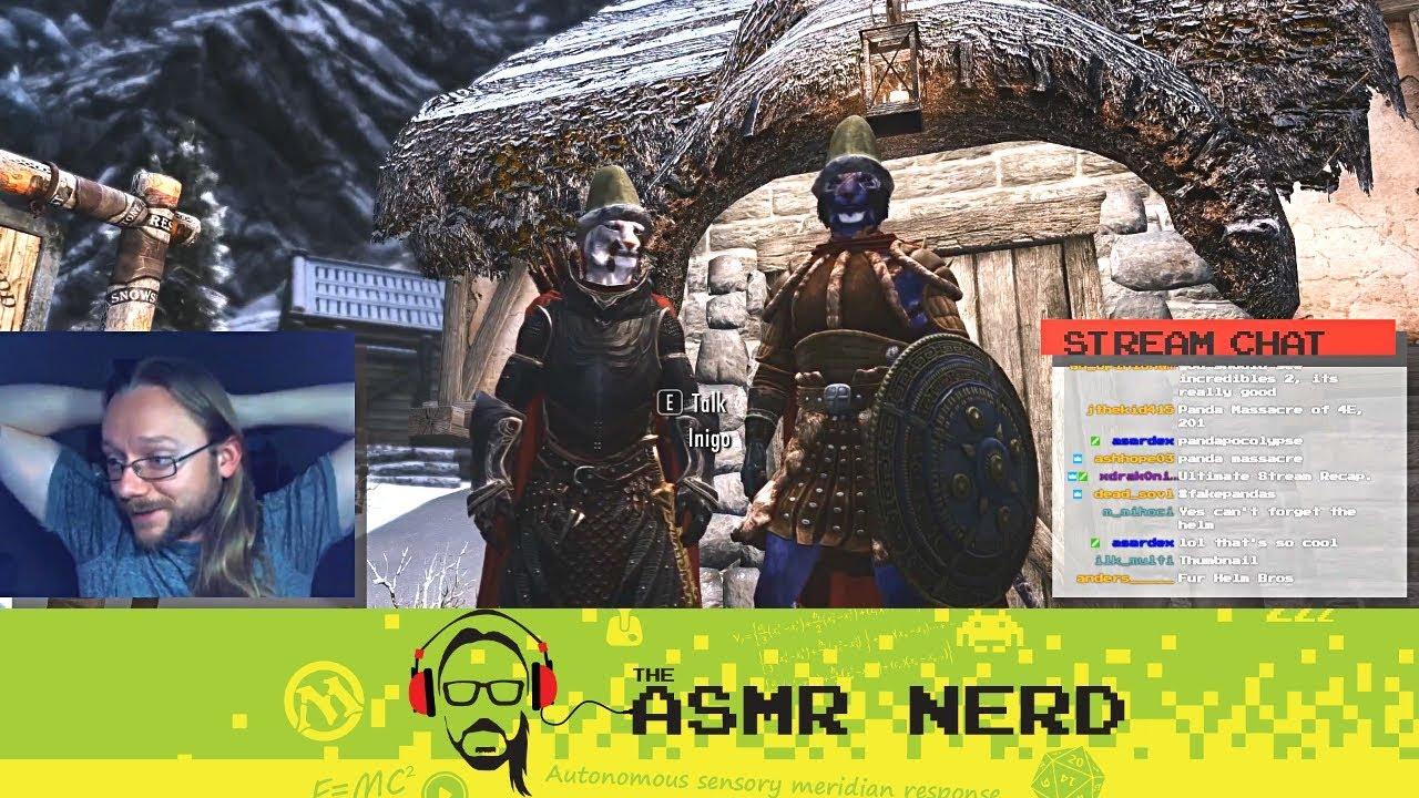 Twitch Archive Asmr Ish Lets Play Skyrim 14 Super 3E Colovian Fur Helm Bros