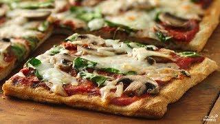 Пицца с грибами | Видео рецепт приготовления пиццы | Mushroom pizza