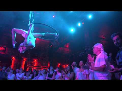 Aerialist Performs To Bollywood Song Lovely at the Jai Ho! Dance Party