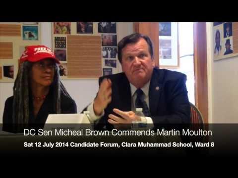Democrat DC Sen Michael D Brown commends Libertarian Martin Moulton