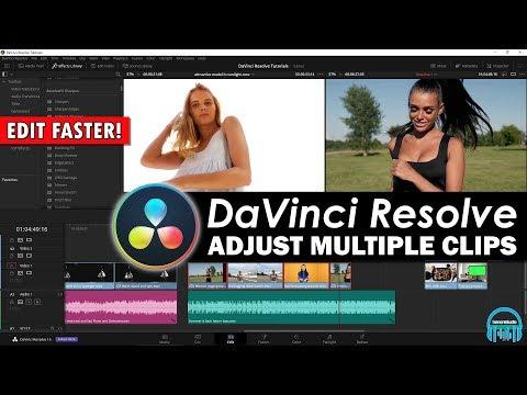 DaVinci Resolve - Adjust Multiple Clips at the Same Time (EDIT FASTER)