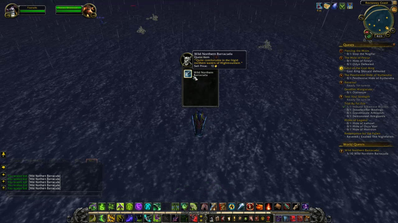 World of warcraft wild northern barracuda fishing legion for Wow fishing guide