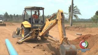 construção rede de agua