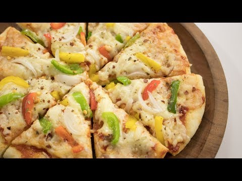 Microwave Pizza Recipe | Start To Finish Easy Veg Pizza Made In Microwave Oven