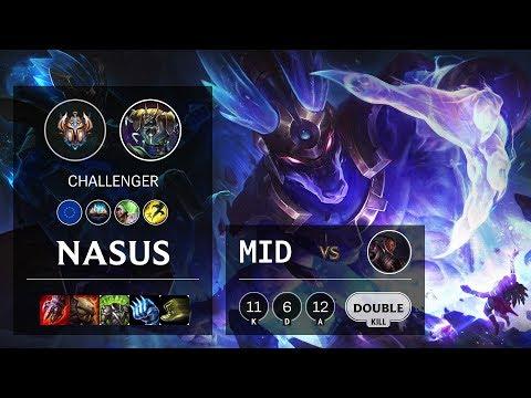 Nasus Mid vs Lucian - EUW Challenger Patch 10.3