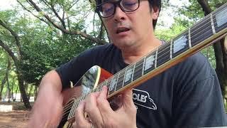 """雨上がりの夜空に 弾き語りしてみました(^^) Gibson J200""""The 64"""""""