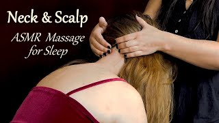 Scalp & Neck Massage for Sleep ♥ ASMR with Abby & Lucy, Whispering, Long Hair, Serene Relaxation