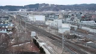 青い森鉄道 E001系「四季島」9023M 八戸駅到着 2019年1月13日