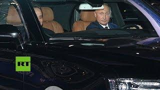 Putin y Al Sisi realizan un 'test drive' con el auto ruso Aurus en la pista de F1 de Sochi