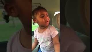 My 2 year old granddaughter singing CARDI B RING
