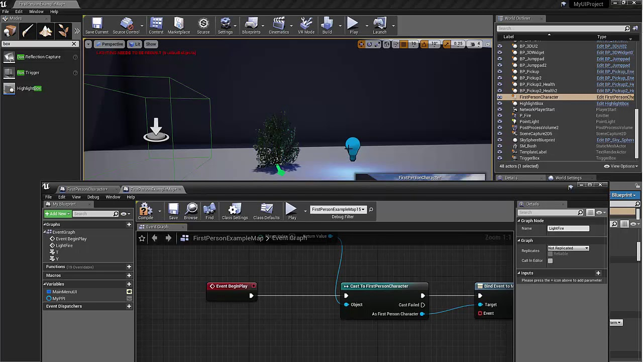 Unreal 4 Event Dispatcher - Talk to level blueprint from Player