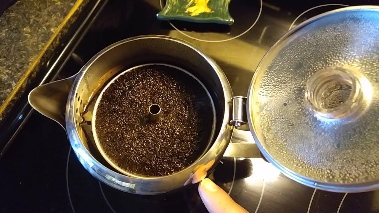 Making French Press Coffee In A Percolator Pot