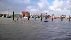 Sturmflut am 10.02.2020 auf der grünen Halbinsel / Butjadingen in Burhave und Fedderwardersiel.